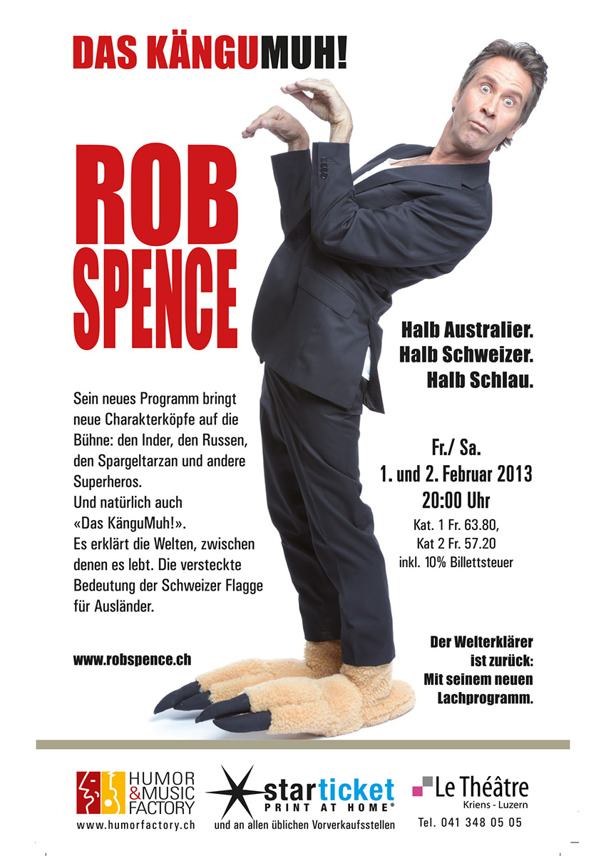 Rob Spence, Kängumuh!, Humorfacotry.ch